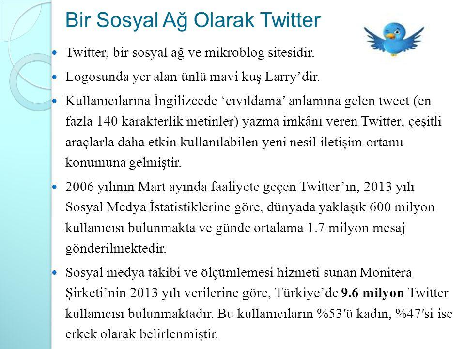 Bir Sosyal Ağ Olarak Twitter