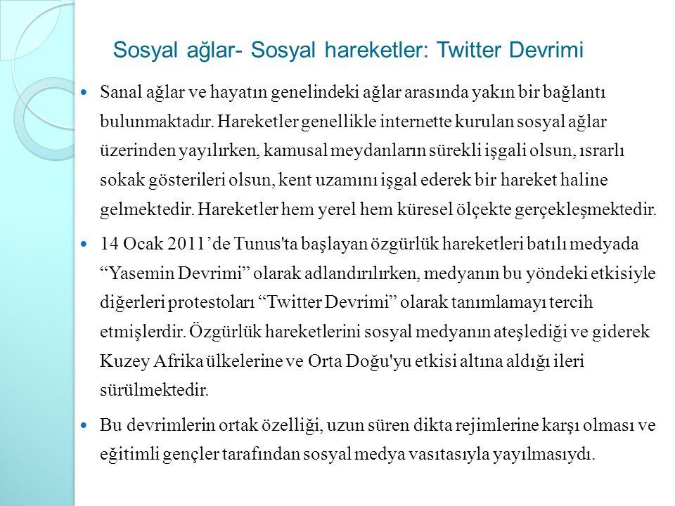 Sosyal ağlar- Sosyal hareketler: Twitter Devrimi