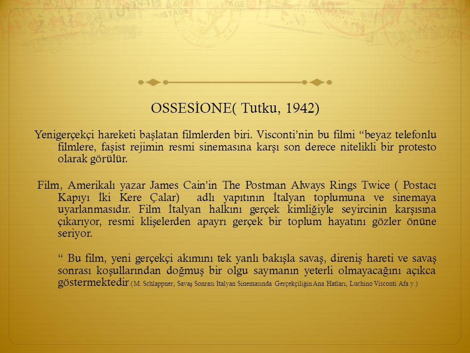 OSSESİONE( Tutku, 1942)