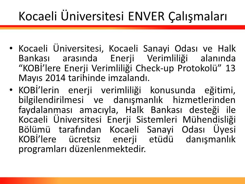 Kocaeli Üniversitesi ENVER Çalışmaları