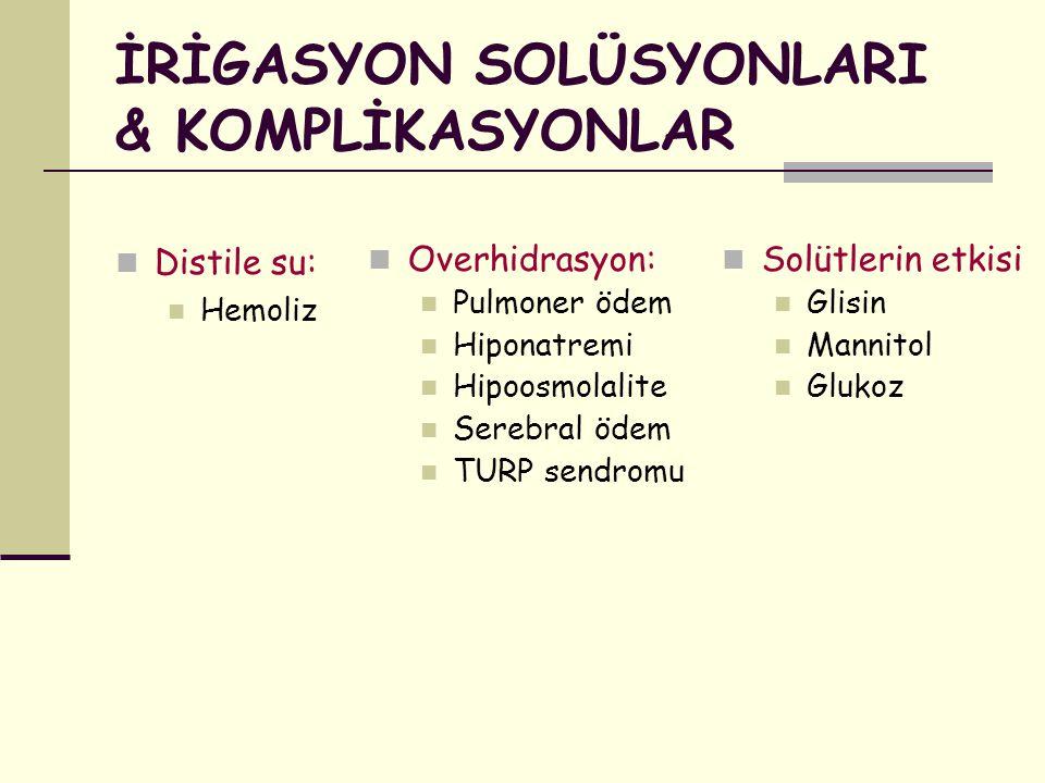 İRİGASYON SOLÜSYONLARI & KOMPLİKASYONLAR