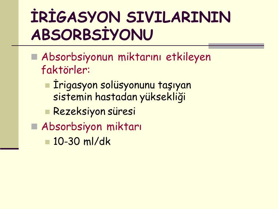 İRİGASYON SIVILARININ ABSORBSİYONU