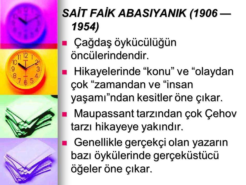 SAİT FAİK ABASIYANIK (1906 —1954)