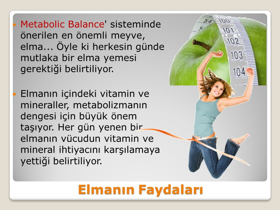 Metabolic Balance sisteminde önerilen en önemli meyve, elma
