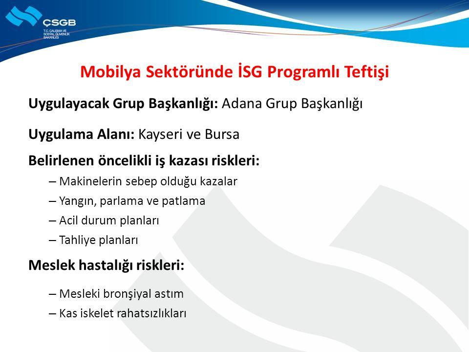 Mobilya Sektöründe İSG Programlı Teftişi