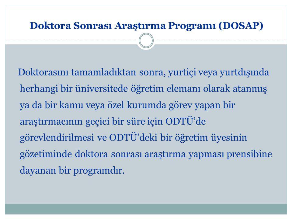 Doktora Sonrası Araştırma Programı (DOSAP)