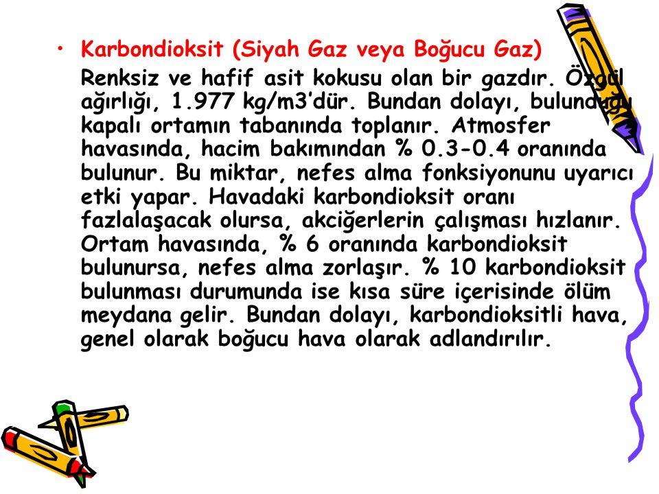 Karbondioksit (Siyah Gaz veya Boğucu Gaz)