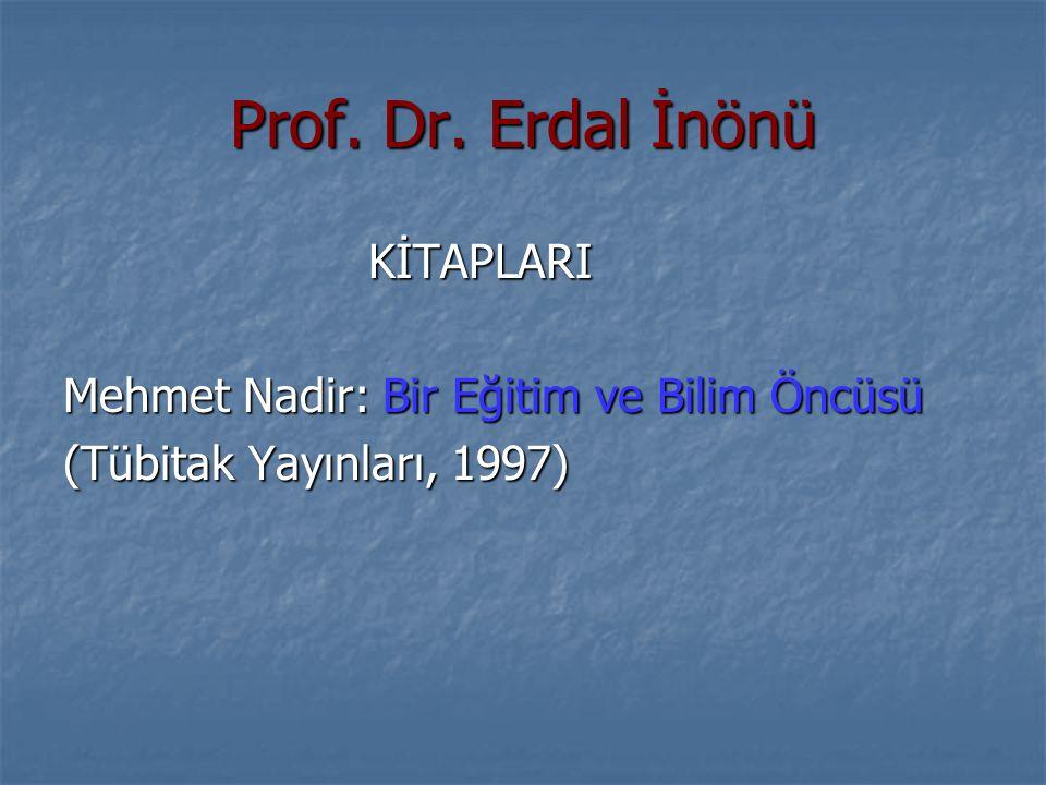 Prof. Dr. Erdal İnönü KİTAPLARI