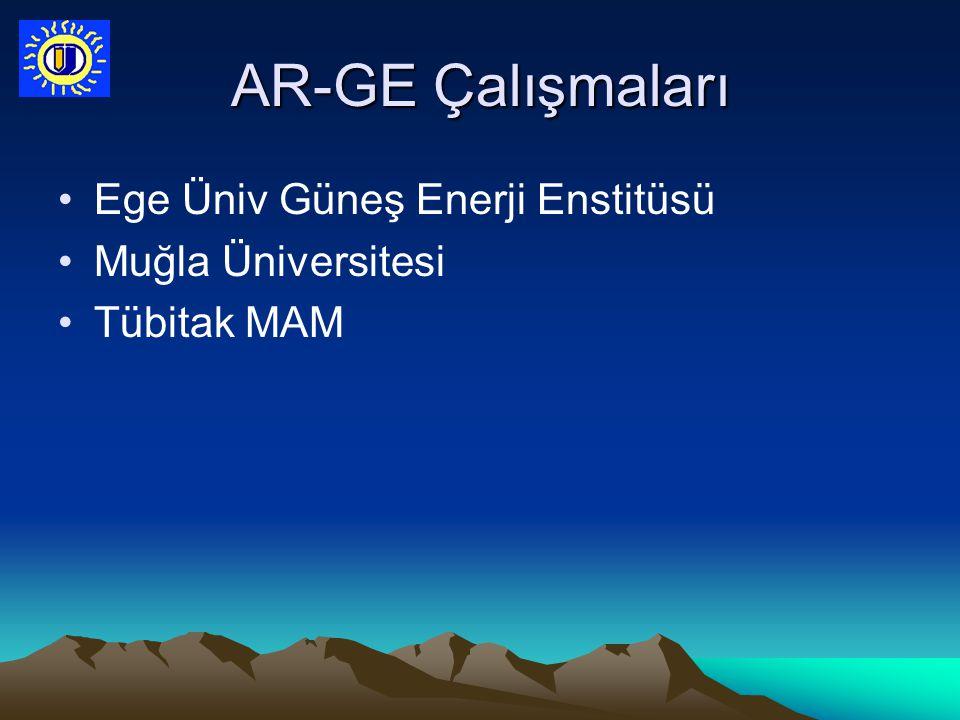 AR-GE Çalışmaları Ege Üniv Güneş Enerji Enstitüsü Muğla Üniversitesi