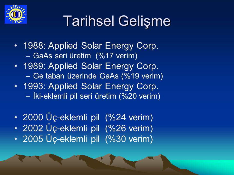 Tarihsel Gelişme 1988: Applied Solar Energy Corp.