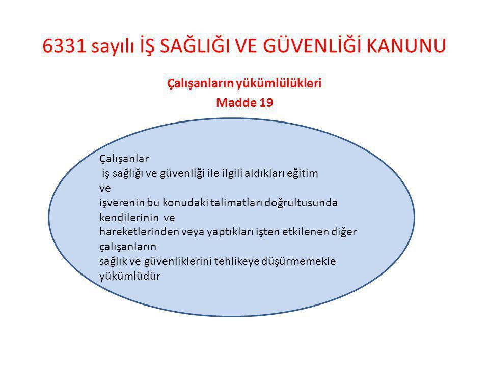 6331 sayılı İŞ SAĞLIĞI VE GÜVENLİĞİ KANUNU