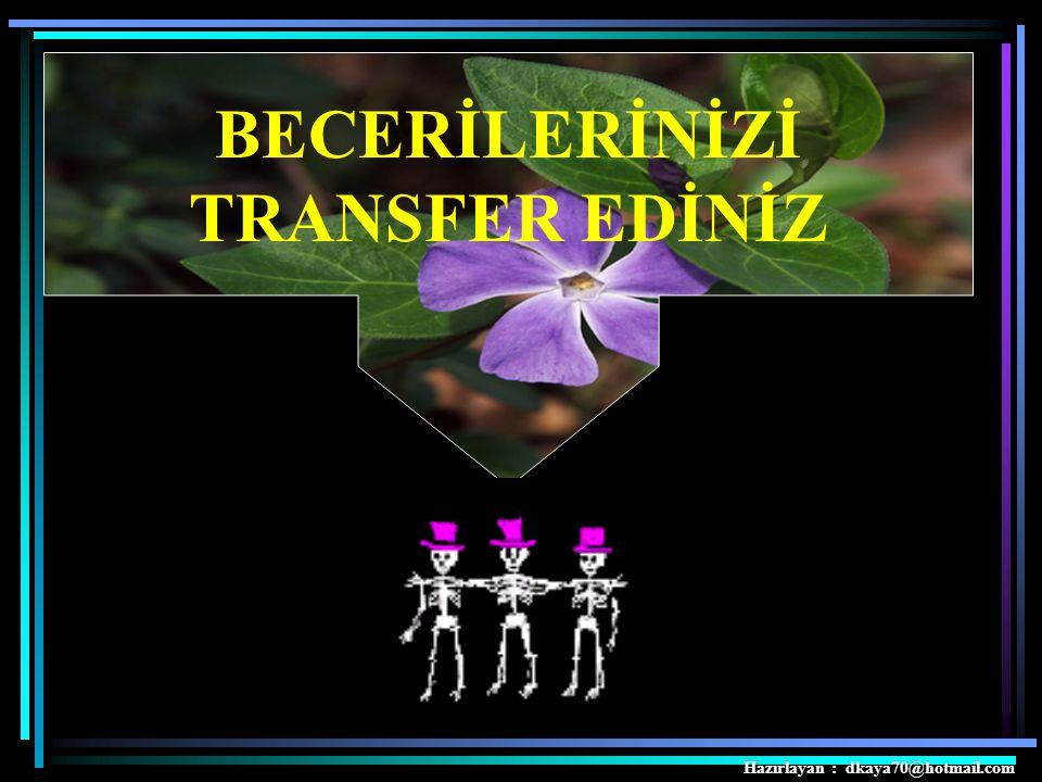 BECERİLERİNİZİ TRANSFER EDİNİZ