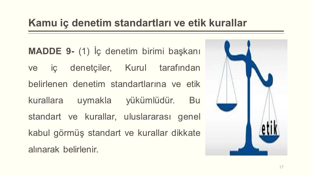 Kamu iç denetim standartları ve etik kurallar