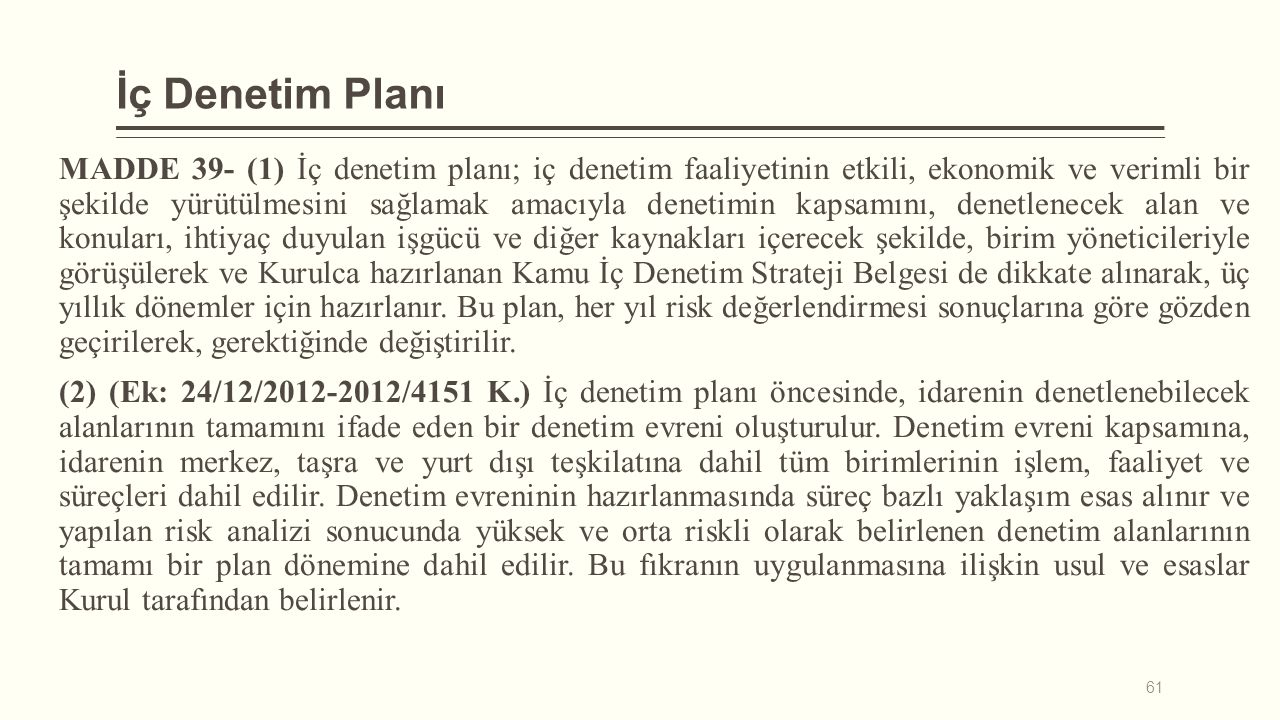 İç Denetim Planı
