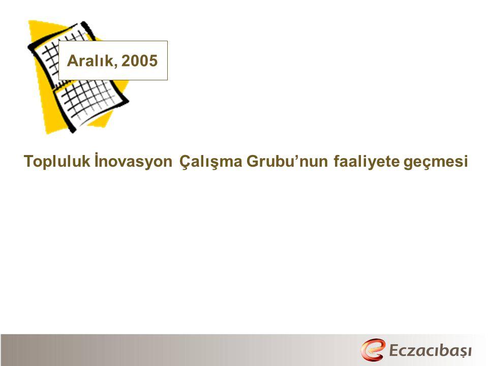 Aralık, 2005 Topluluk İnovasyon Çalışma Grubu'nun faaliyete geçmesi
