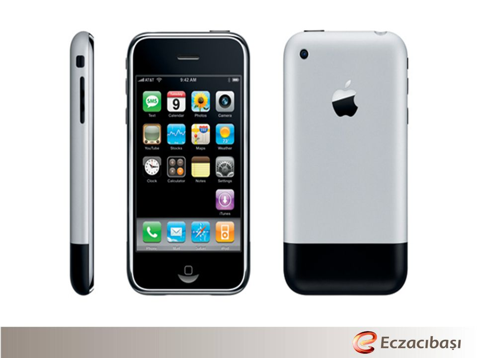 iPhone combines three products: a mobile phone, a widescreen iPod and the internet.