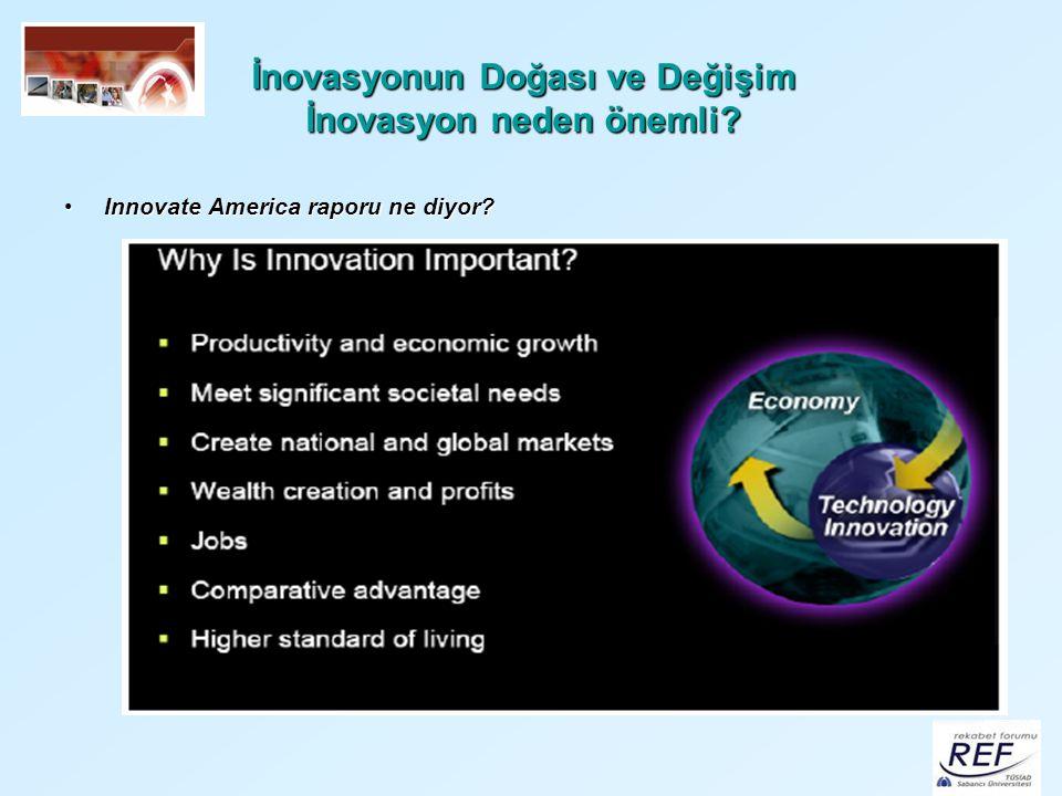 İnovasyonun Doğası ve Değişim İnovasyon neden önemli