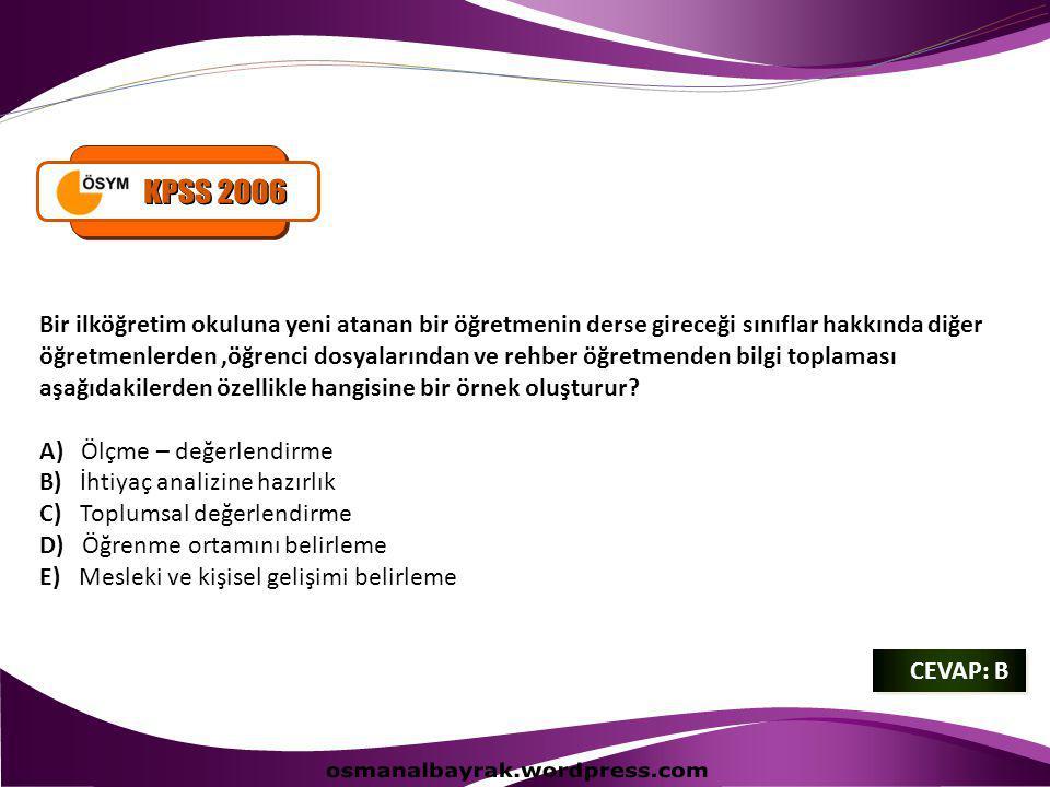 KPSS 2006 osmanalbayrak.wordpress.com