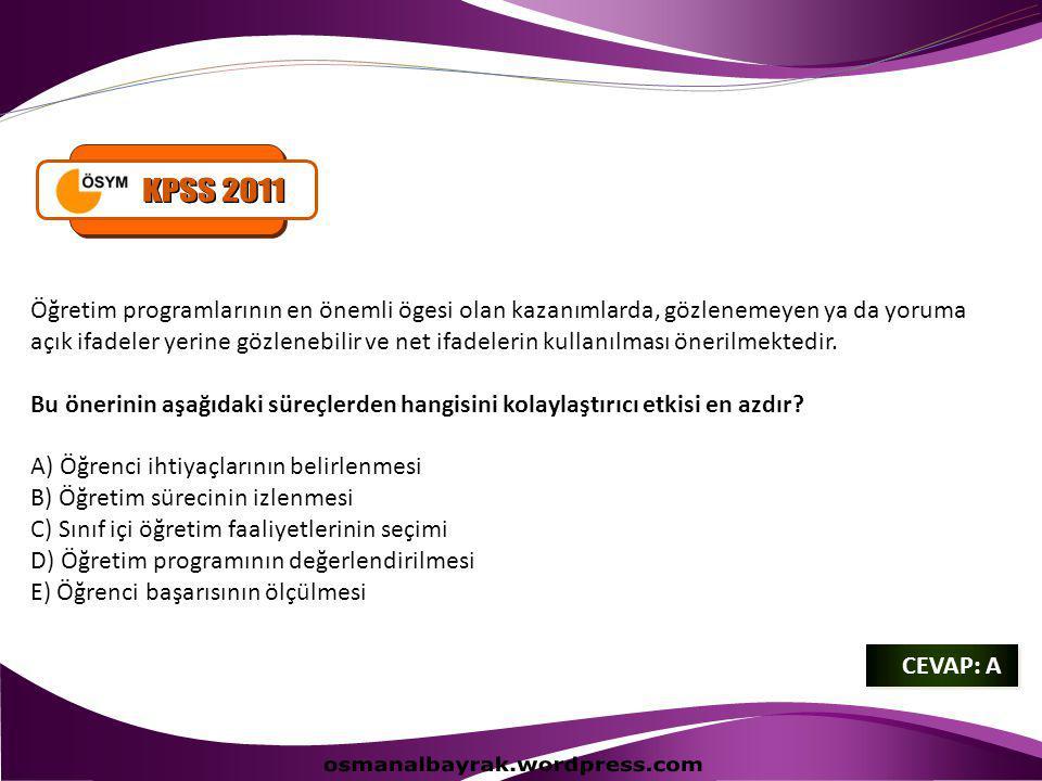 KPSS 2011 osmanalbayrak.wordpress.com