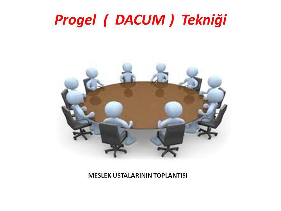Progel ( DACUM ) Tekniği