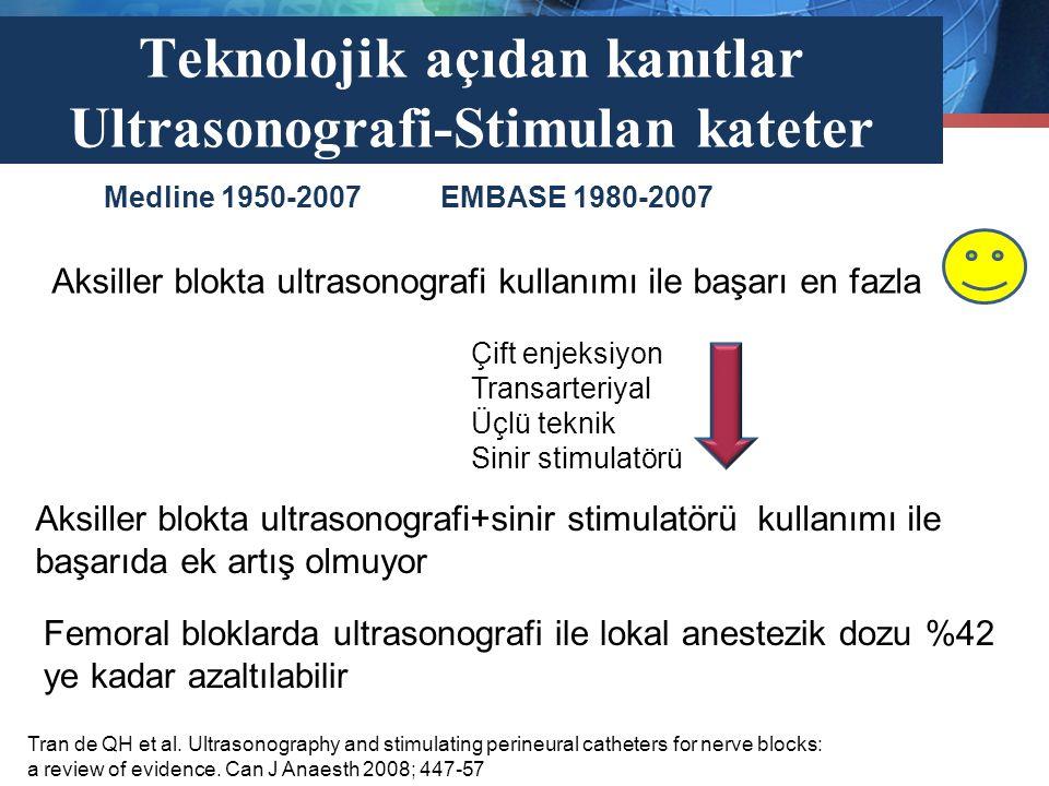 Teknolojik açıdan kanıtlar Ultrasonografi-Stimulan kateter