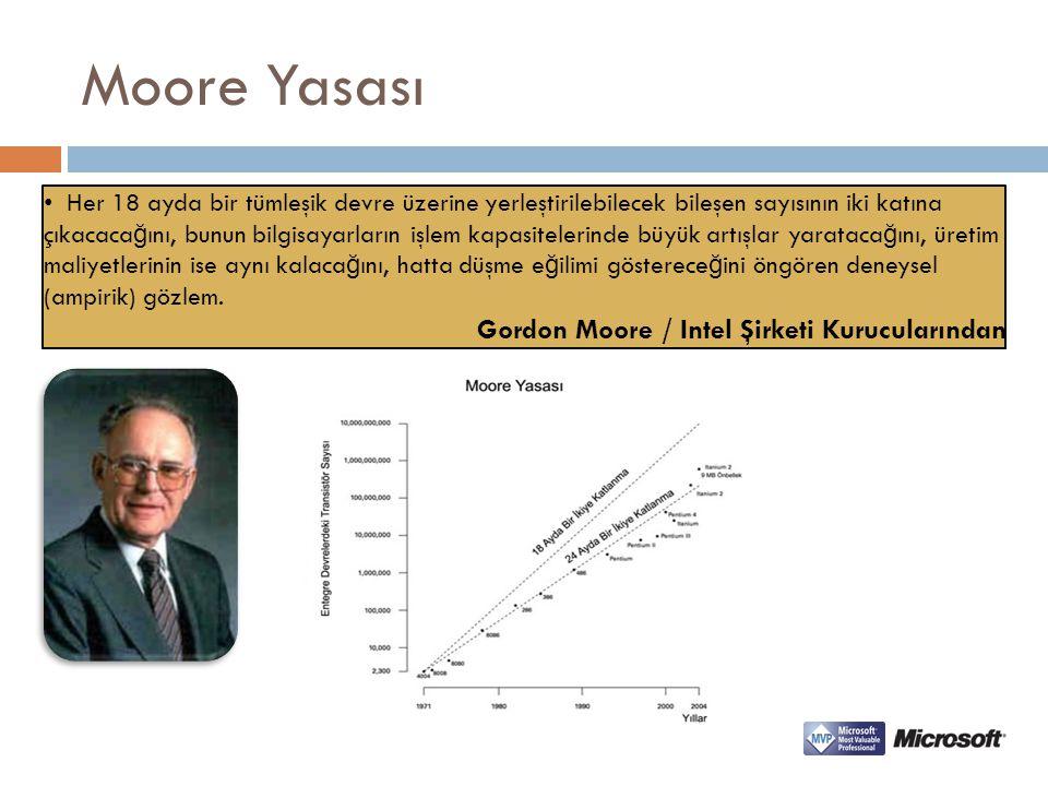 Moore Yasası Gordon Moore / Intel Şirketi Kurucularından