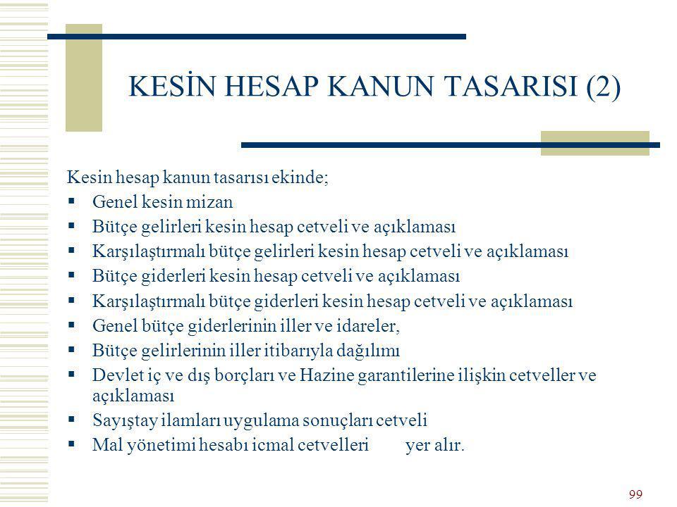 KESİN HESAP KANUN TASARISI (2)