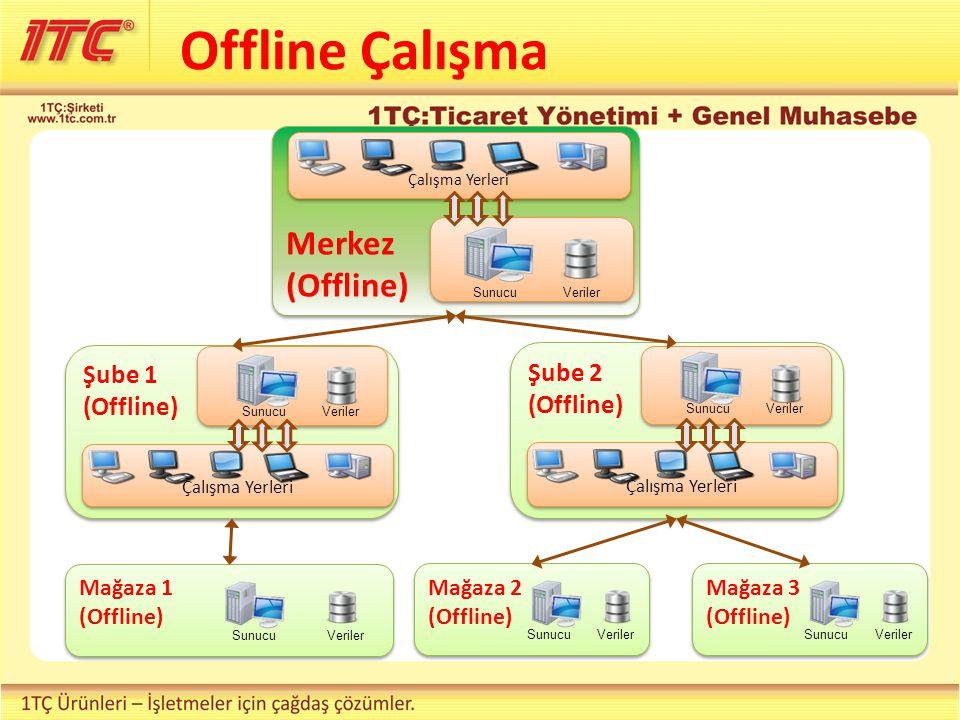 Offline Çalışma Merkez (Offline) Şube 1 (Offline) Şube 2 (Offline)
