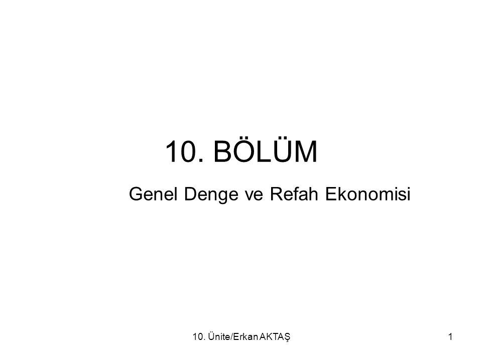 Genel Denge ve Refah Ekonomisi