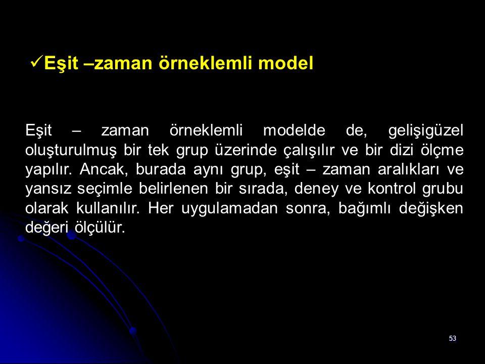 Eşit –zaman örneklemli model