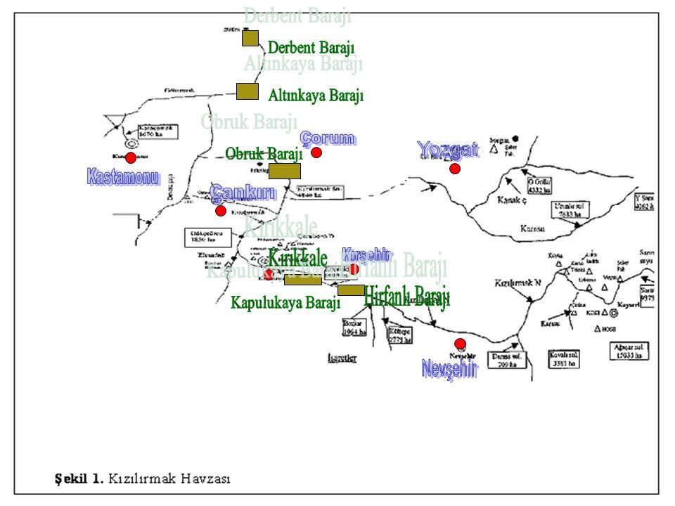 Derbent Barajı Altınkaya Barajı Obruk Barajı Hirfanlı Barajı