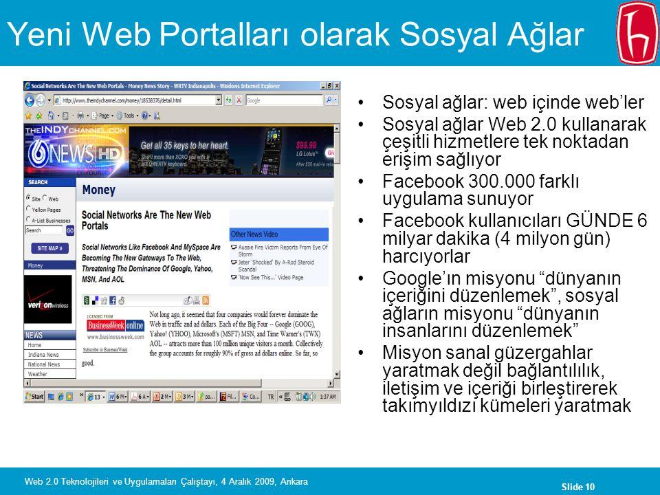Yeni Web Portalları olarak Sosyal Ağlar