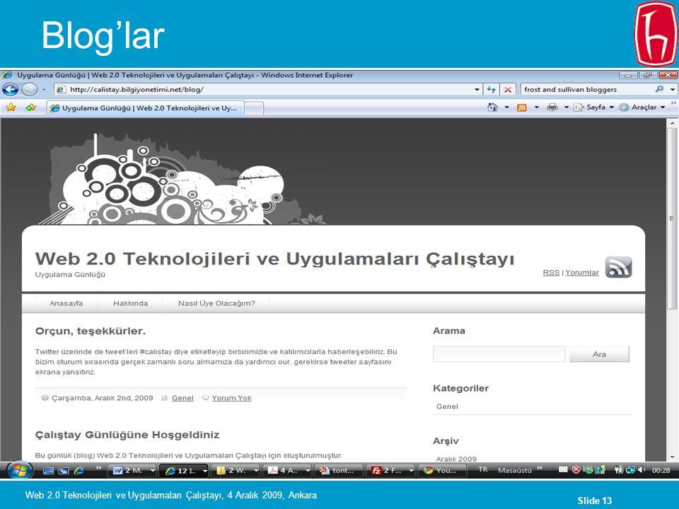 Blog'lar Web 2.0 Teknolojileri ve Uygulamaları Çalıştayı, 4 Aralık 2009, Ankara