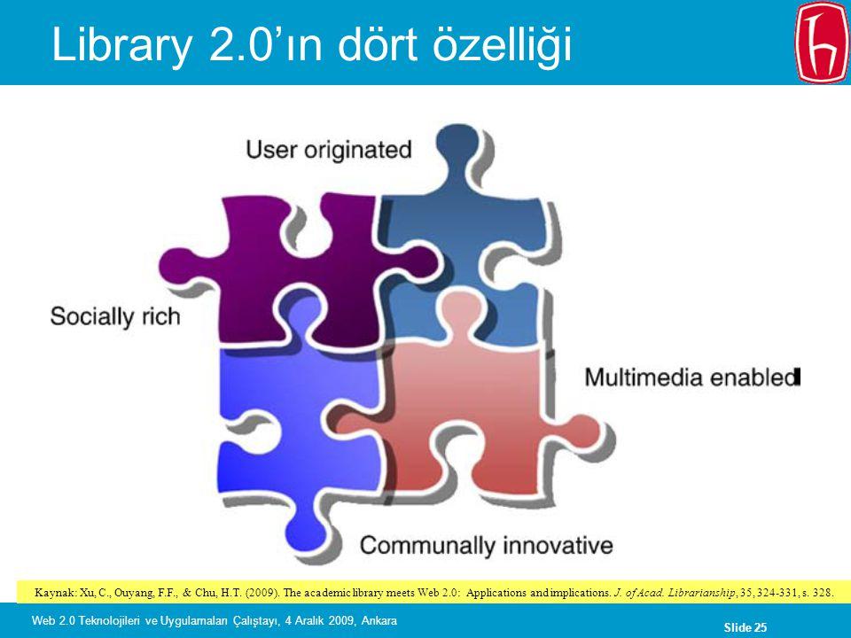 Library 2.0'ın dört özelliği