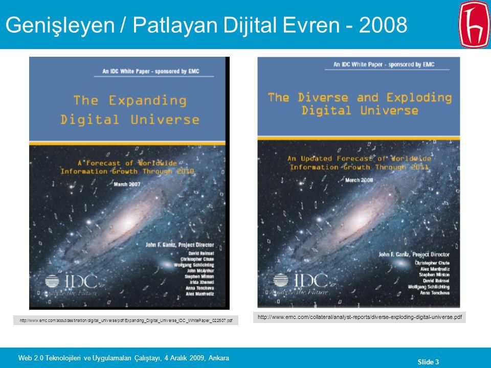 Genişleyen / Patlayan Dijital Evren - 2008