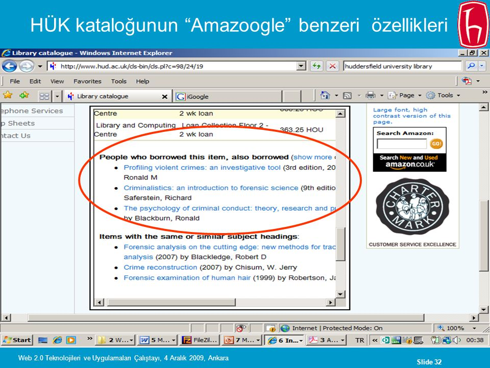 HÜK kataloğunun Amazoogle benzeri özellikleri