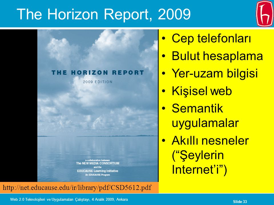 The Horizon Report, 2009 Cep telefonları Bulut hesaplama