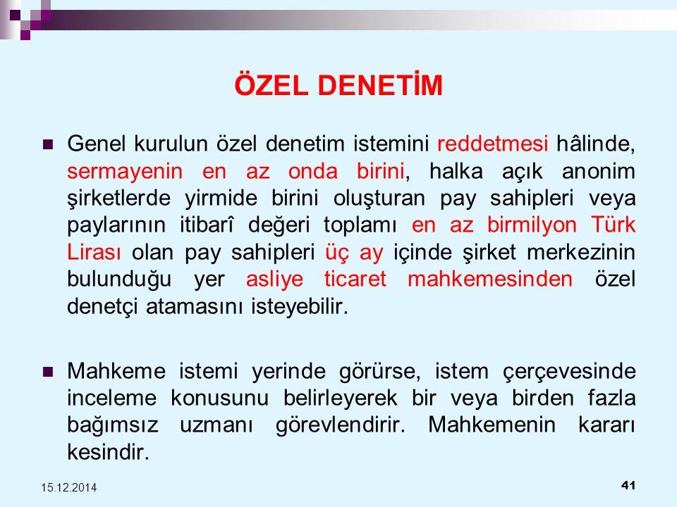 ÖZEL DENETİM