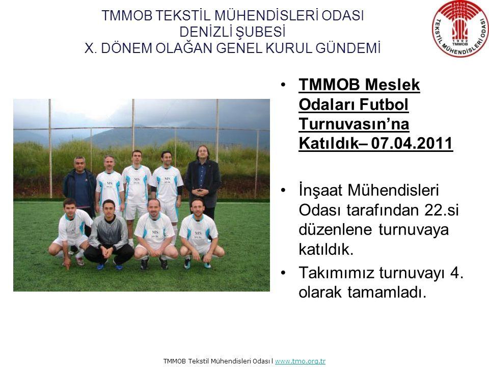 TMMOB Meslek Odaları Futbol Turnuvasın'na Katıldık– 07.04.2011