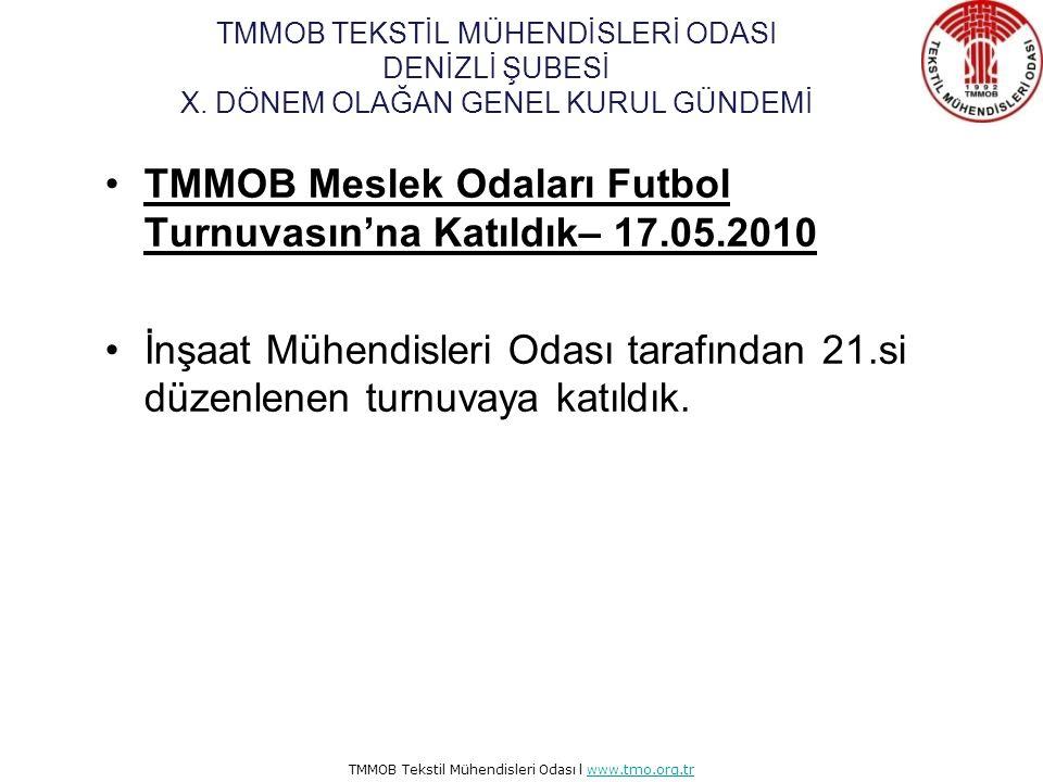 TMMOB Meslek Odaları Futbol Turnuvasın'na Katıldık– 17.05.2010