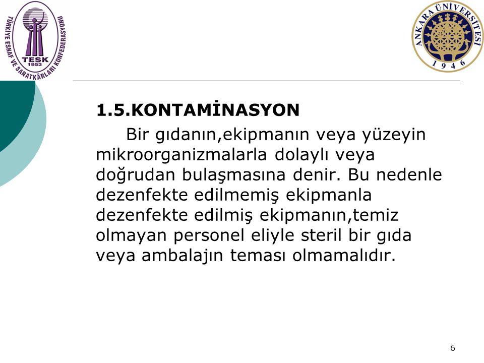 1.5.KONTAMİNASYON