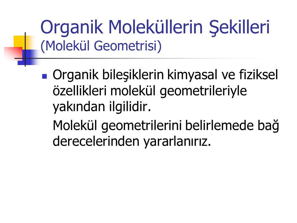 Organik Moleküllerin Şekilleri (Molekül Geometrisi)