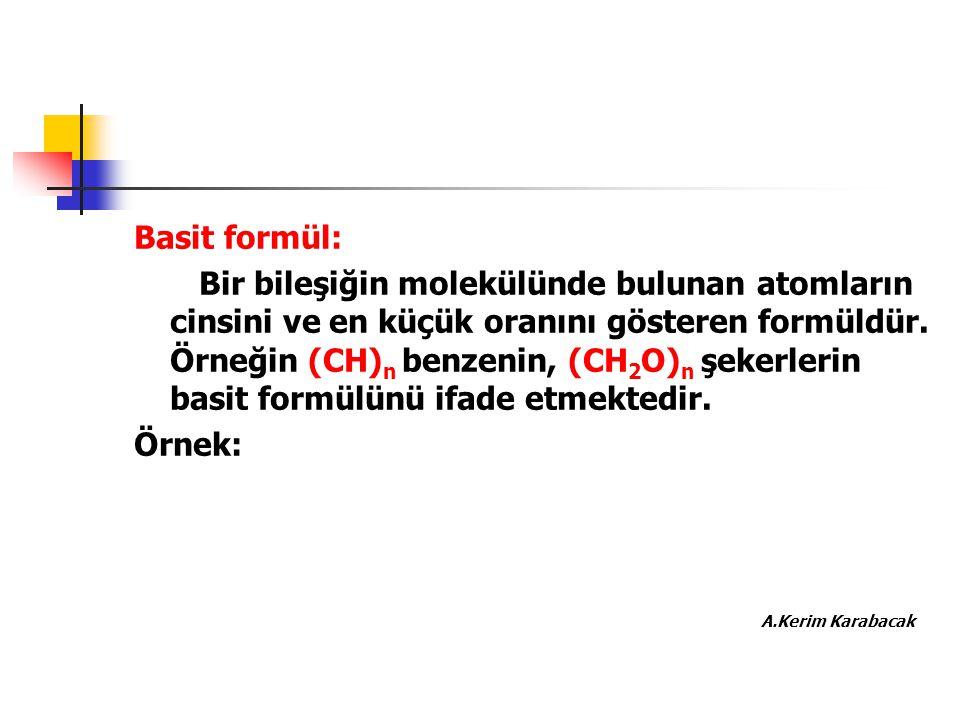 Basit formül: