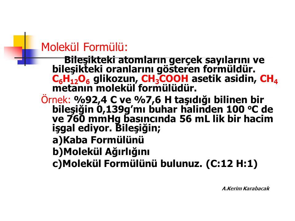 Molekül Formülü: