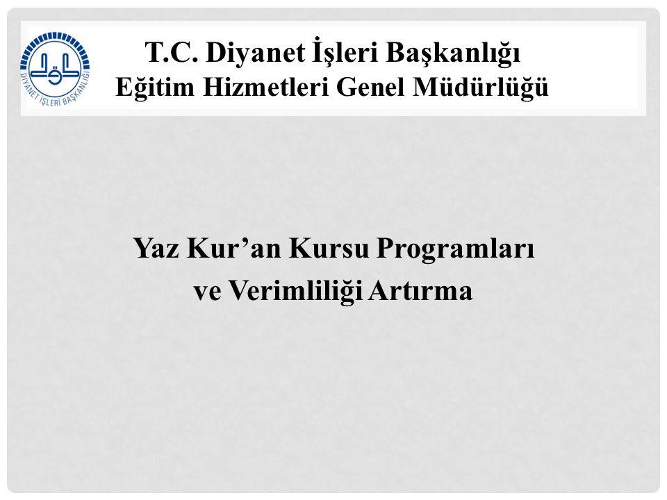 T.C. Diyanet İşleri Başkanlığı Eğitim Hizmetleri Genel Müdürlüğü