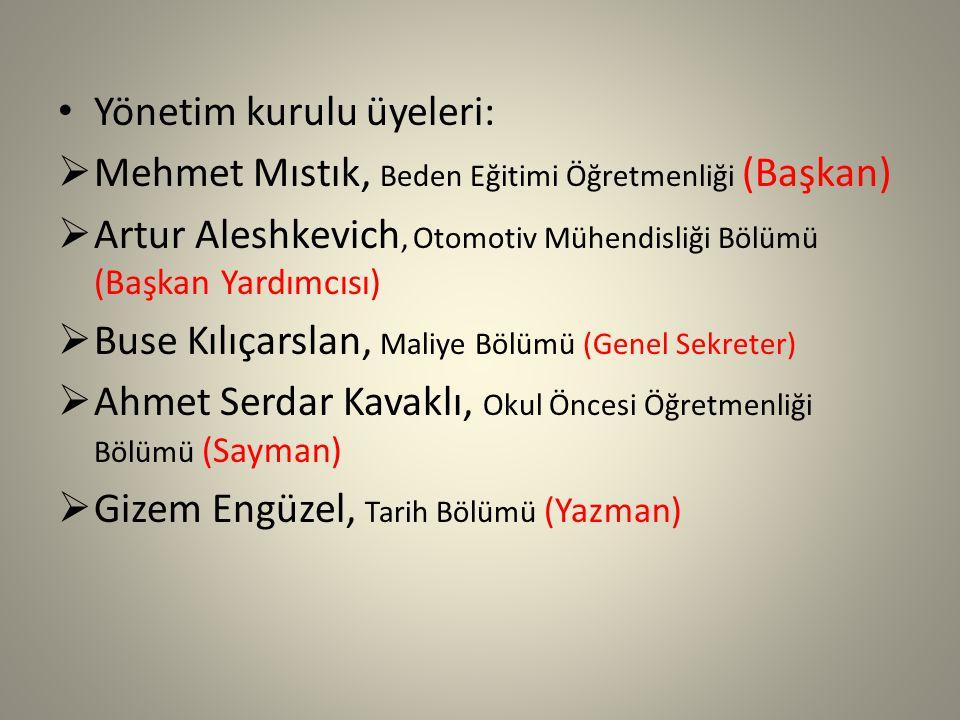 Yönetim kurulu üyeleri: