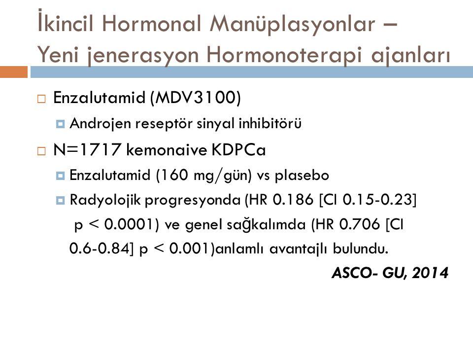 İkincil Hormonal Manüplasyonlar – Yeni jenerasyon Hormonoterapi ajanları