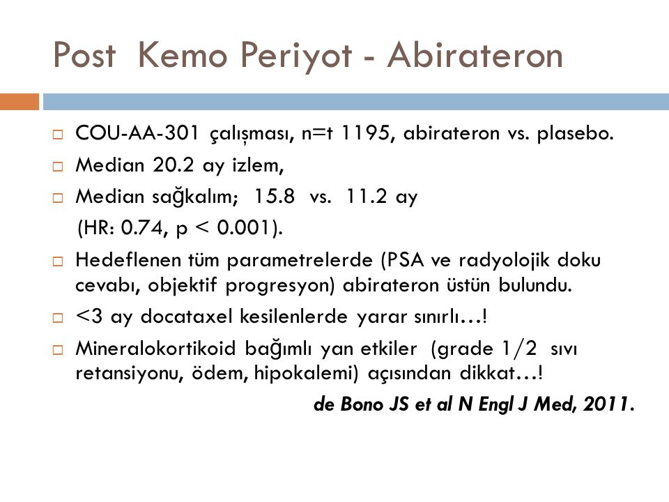 Post Kemo Periyot - Abirateron