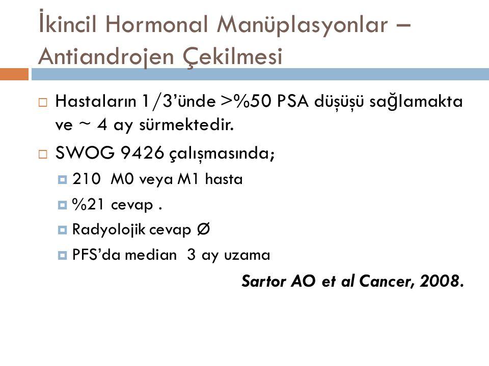 İkincil Hormonal Manüplasyonlar – Antiandrojen Çekilmesi