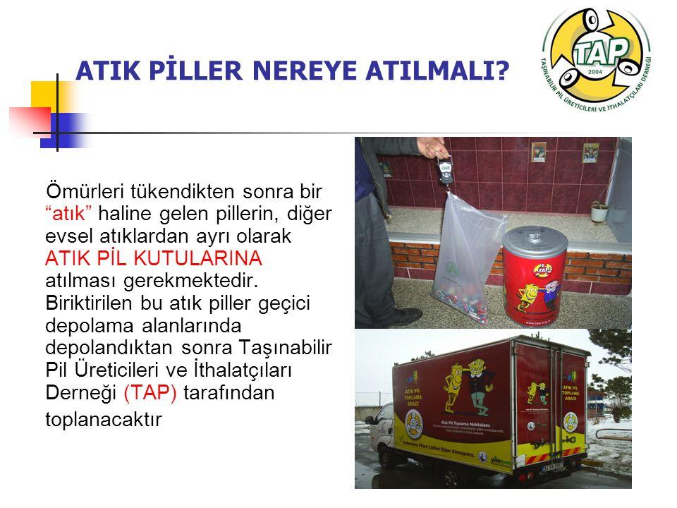 ATIK PİLLER NEREYE ATILMALI